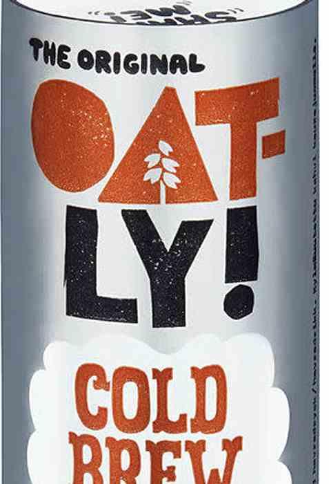 Bilde av Oatly cold brew latte.