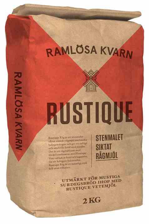 Bilde av Ramløsa Kvarn Rustique stenmalet siktet rugmel.