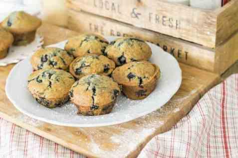 Bilde av Muffins, med blåbær.