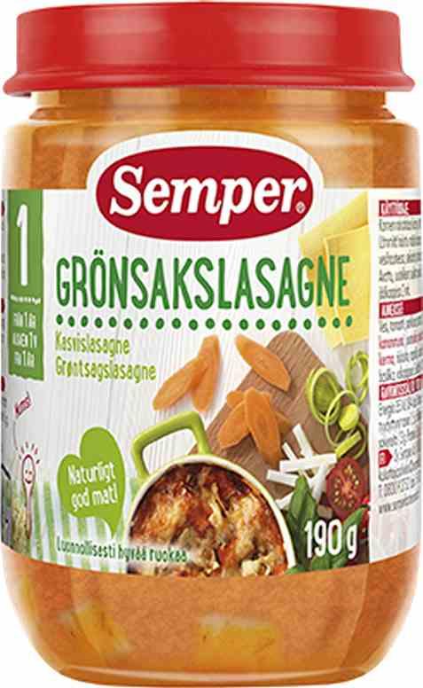 Bilde av Semper grønnsakslasagne.