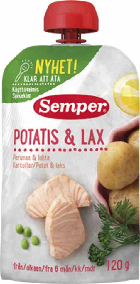 Bilde av Semper spiseklar potet og laks.