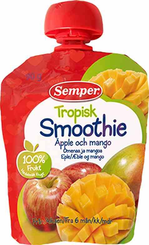Bilde av Semper Smoothie Tropisk med eple & mango.