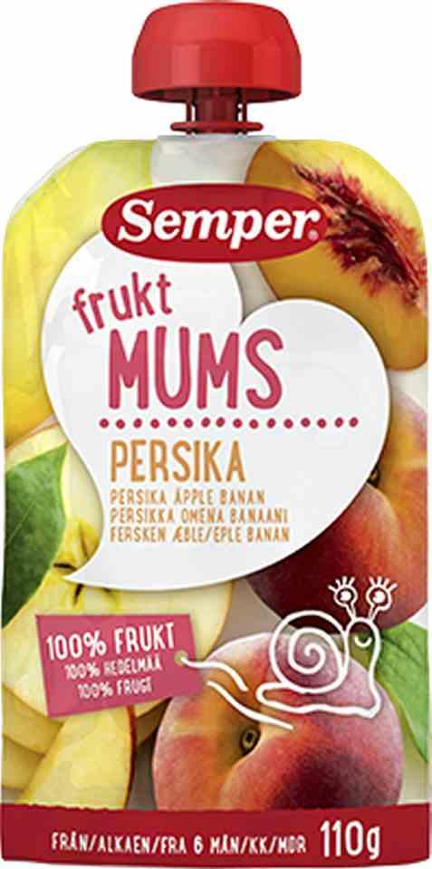 Bilde av Semper fruktmums fersken.