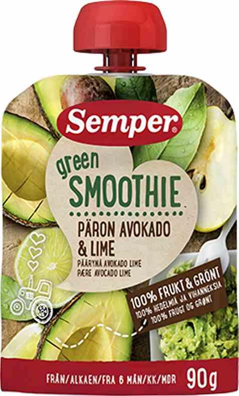 Bilde av Semper Green Smoothie med Pære, Avokado & Lime.
