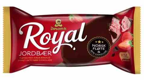 Bilde av Diplom-is Royal Jordbær.