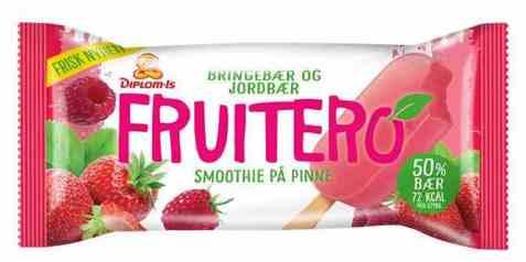 Bilde av Diplom-is fruitero bringebær og jordbær.