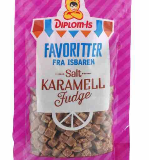 Bilde av Diplom-is salt karamellfudge.