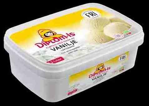 Bilde av Diplom-is fri laktosefri vaniljeis.