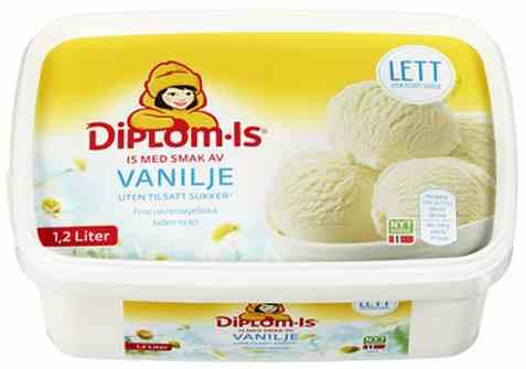 Bilde av Diplom-is lett vanilje.