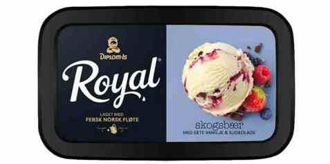 Bilde av Diplom-is Royal skogsbær og sjokolade.