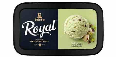 Bilde av Diplom-is Royal pistasje 0,9 liter.