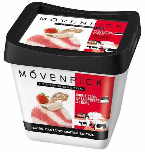 Bilde av Mövenpick double cream and strawberry.