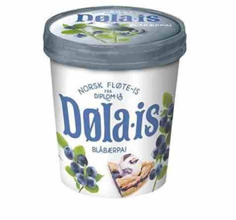 Bilde av Diplom-is dølais blåbærpai.