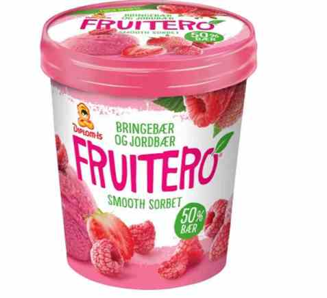 Bilde av Diplom-is fruitero bringebær og jordbær 0,5 l.