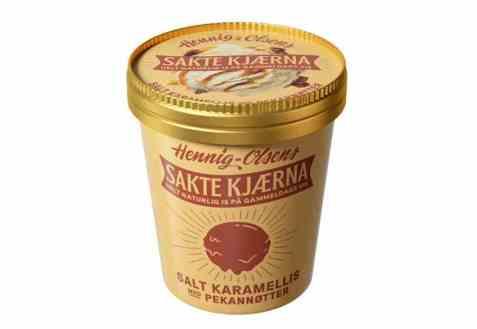 Bilde av Hennig Olsen Sakte Kjærna Salt karamell med pekannøtter.