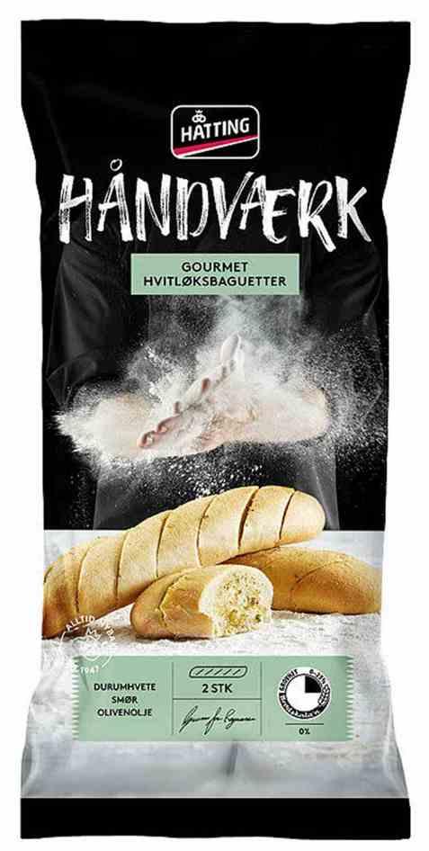 Bilde av Hatting Gourmet Hvitløksbaguetter.