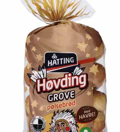 Bilde av Hatting Høvding grove pølsebrød.
