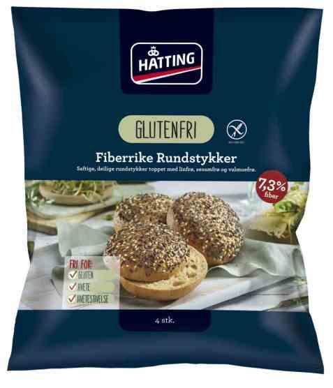 Bilde av Hatting Fiberrike Glutenfrie Rundstykker.