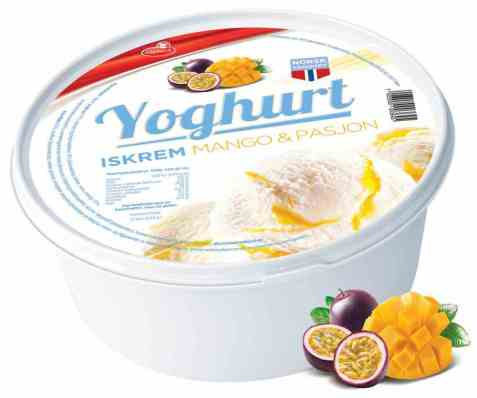 Bilde av Isbilen 1,2 ltr boks yoghurt mango og pasjon.