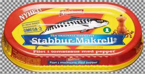 Bilde av Stabbur makrell i tomatsaus med pepper.