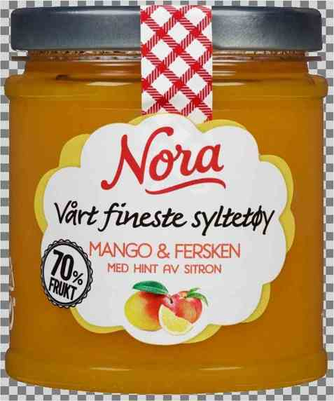 Bilde av Nora Mango- og ferskensyltetøy med hint av sitron.