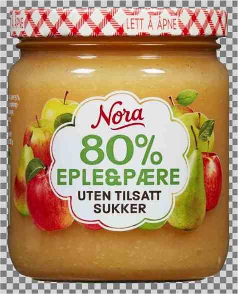 Bilde av Nora uten tilsatt sukker eple og pære.