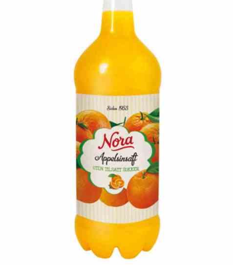 Bilde av Nora uten tilsatt sukker appelsinsaft 1,4 liter.