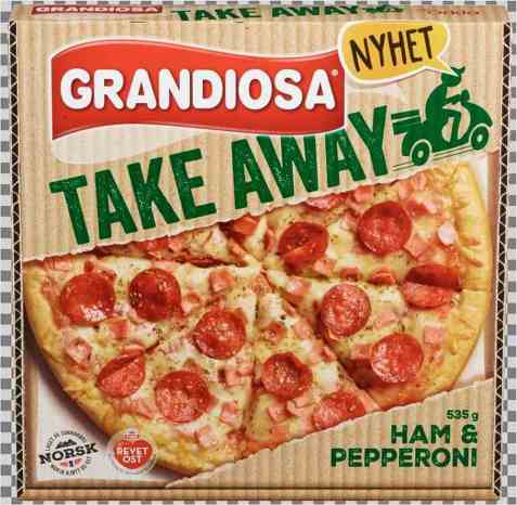 Bilde av Grandiosa take away Ham & Pepperoni.