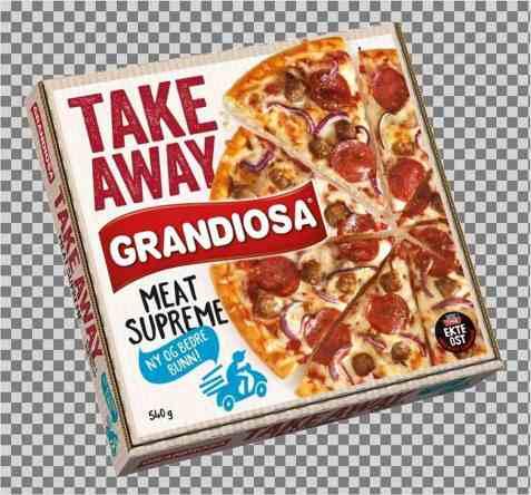 Bilde av Grandiosa take away Meat Supreme.