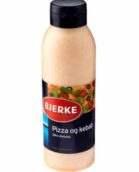 Bilde av Bjerke Pizza og kebabdressing.