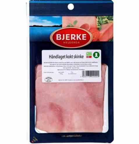 Bilde av Bjerke Kokt skinke håndlaget skåret.