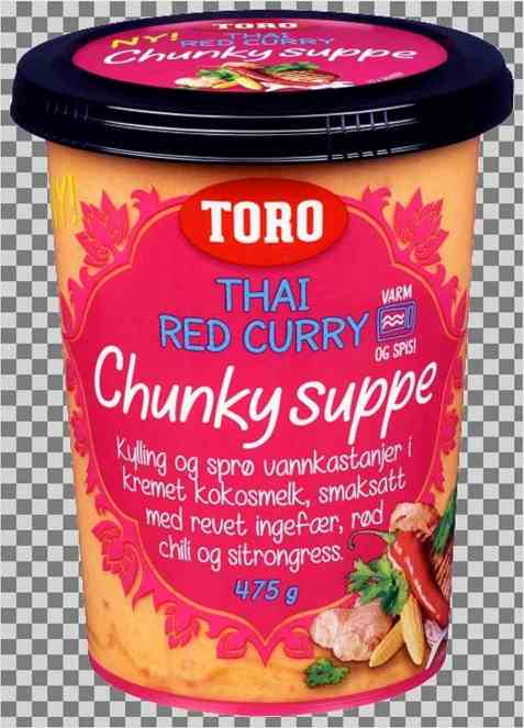Bilde av Toro Chunky Thai Red Curry Suppe.