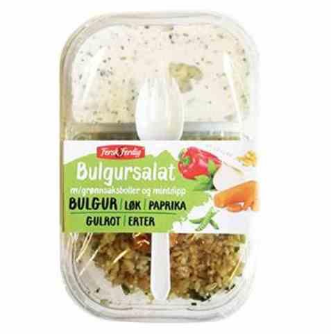 Bilde av Fersk og ferdig Bulgursalat m/grønnsaksboller&dip.