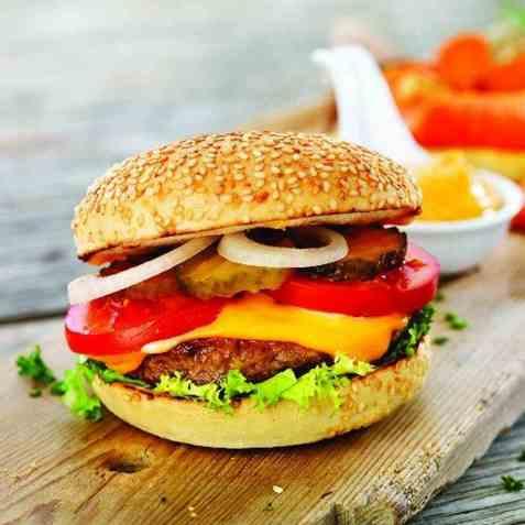 Bilde av Quorn Burger Storkjøkken.