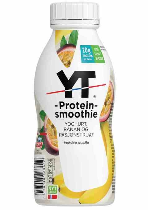 Bilde av Tine YT Proteinsmoothie Banan og Pasjonsfrukt.