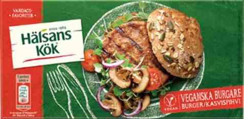 Bilde av Halsans kok burgere vegan.
