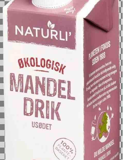 Bilde av Naturli Økologisk Mandeldrikk Usøtet.