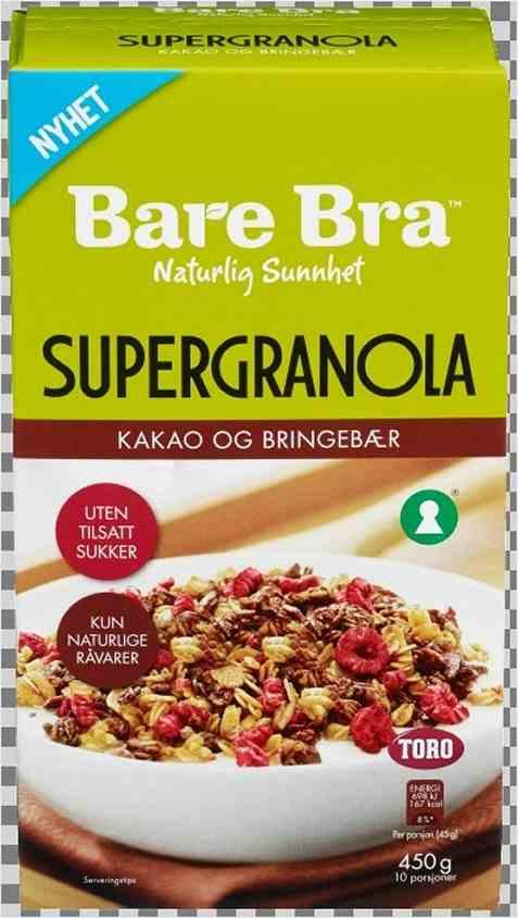 Bilde av Toro BareBra Supergranola Kakao og Bringebær.