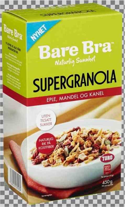 Bilde av Toro BareBra Supergranola med eple, mandel og kanel.