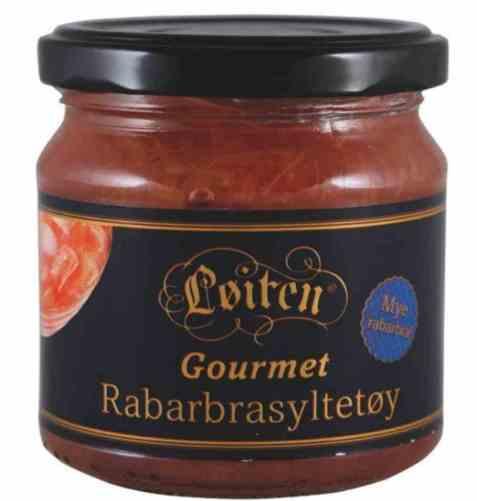 Bilde av Løiten Rabarbrasyltetøy Gourmet.