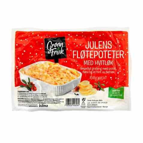 Bilde av Grønn og frisk julens fløtepoteter med hvitløk.