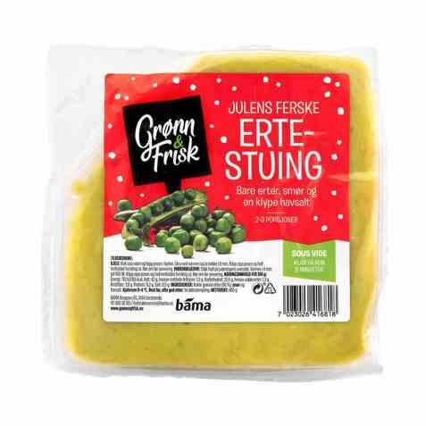 Bilde av Grønn og frisk julens ferske ertestuing.