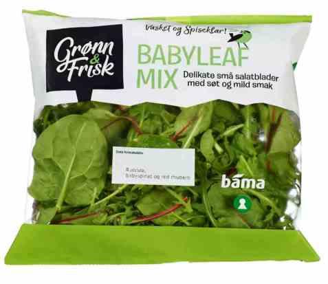 Bilde av Grønn og frisk babyleaf mix.