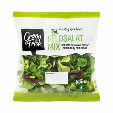 Bilde av Grønn og frisk feldsalat mix.