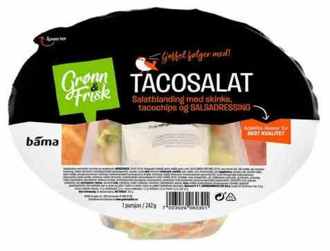 Bilde av Grønn og frisk tacosalat.