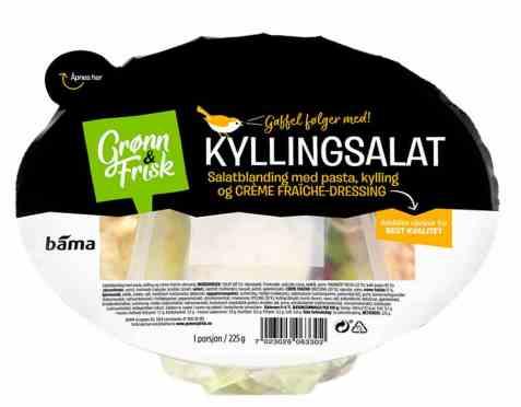 Bilde av Grønn og frisk kyllingsalat.