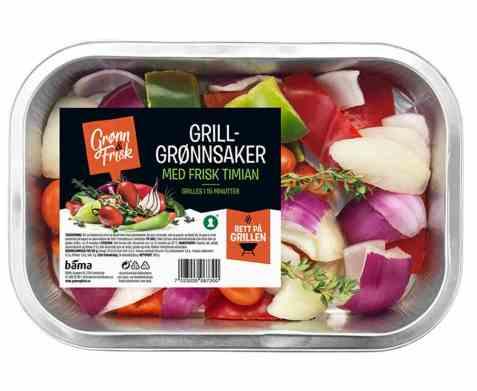 Bilde av Grønn og frisk grillgrønnsaker med fersk timian.
