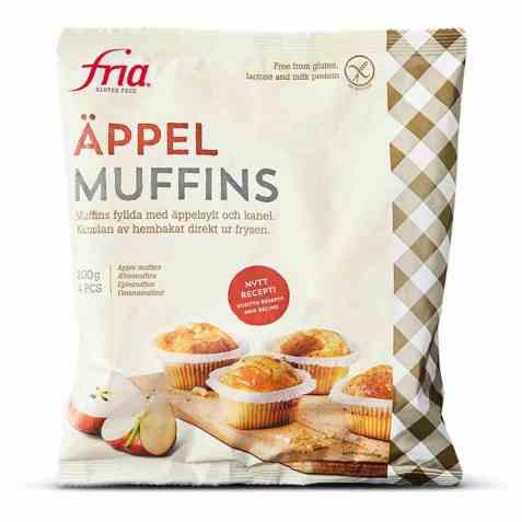 Bilde av Fria glutenfrie eplemuffins.