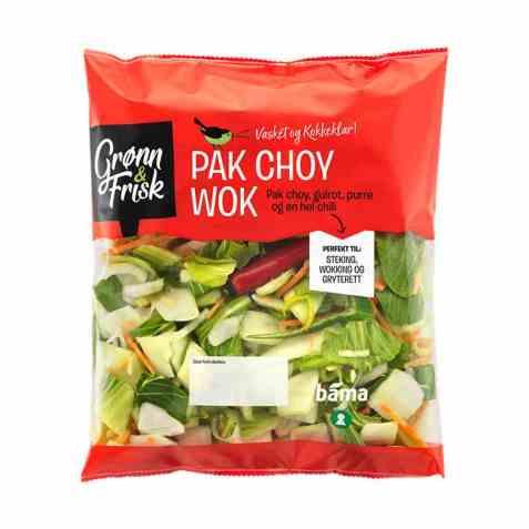 Bilde av Grønn og frisk pak choy wok.