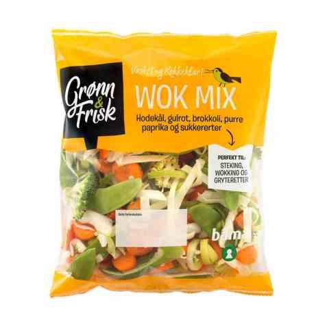 Bilde av Grønn og frisk wok mix.